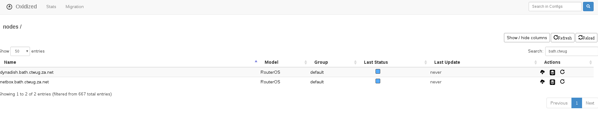 Oxidized - CTWUG Automated Router Config Backup and Tracking